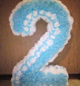 Цифра 2 (декор на день рождения)