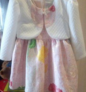 Шикарное платье 1-2 года 92
