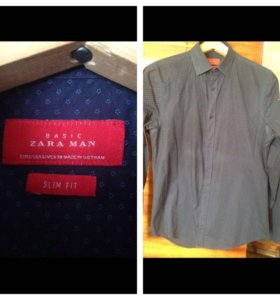 Рубашки Zara man, Boss