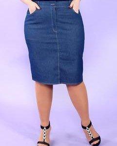 Джинсовая юбка большого размера. Новая.
