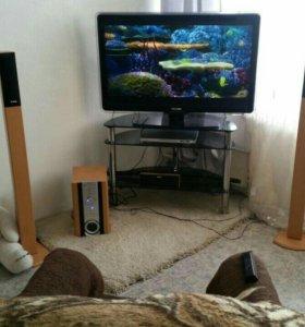 Телевизор + акустическая система