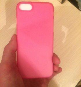 Чехол силиконовый розовый iPhone7
