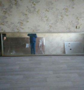 Двери зеркальные от встроеного шкафа