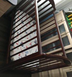 Кроватка детская 0-3 года Лель с матрасом, бельем