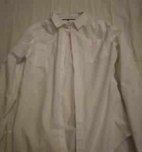 Белая рубашка 147-152 на мальчика
