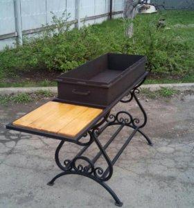 Мангал со столиком, металл 4мм