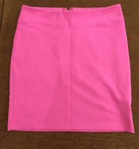 Розовая юбка - карандаш