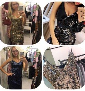 Шикарные платья с пайетками  DG.Новые