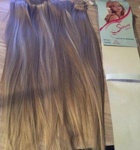 Волосы на заколках новые!!!