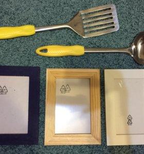 Фоторамки IKEA, кухонная утварь