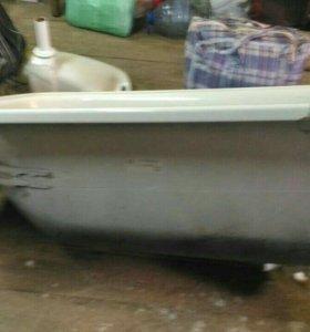 раковина настеннач керамика и ванна металическач