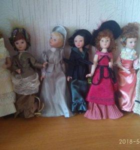 """Коллекция (часть) кукол """"Дамы эпохи"""""""
