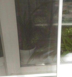 Новая сетка на балконную дверь