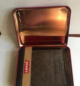 Мужской кошелёк levi'S, новый, кожаный