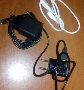 зарядка(кабель и адаптер оригинал)и наушники