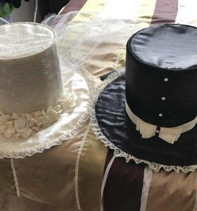 Свадебные шляпы на машину и украшения на капот
