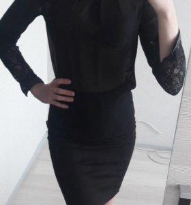 Шифоновая черная блузочка Concept club
