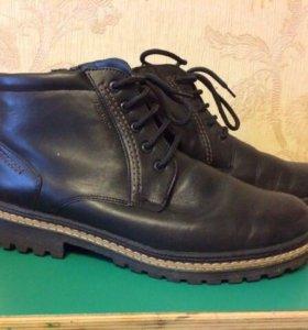 Кожаные ботинки 44 размер