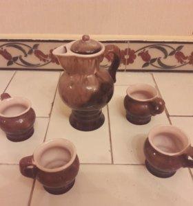 Кофейник+4 чашки