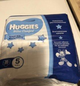 Подгузники Хаггис 5 для мальчиков ультра комфорт