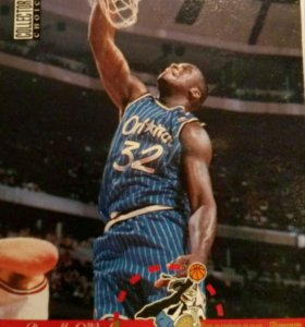 Карточка баскетбольная Shaquille O'Neal 1995