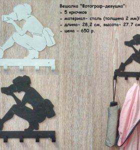 Фотограф Хоккей на стену Вешалка настенная. крючки