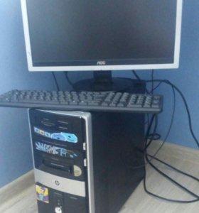 Компьютер HP-Pavilion + монитор ЛОС