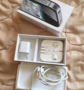 Коробка, наушники, зарядка, Айфон 4