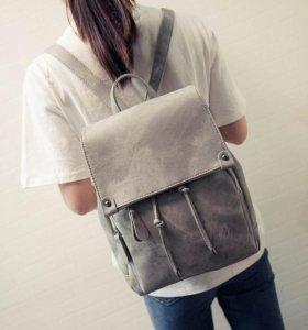 🎒 Новый рюкзак женский, цвет мокрый асфальт