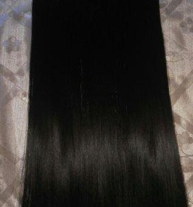 Волосы на трессах(заколках) искусственные