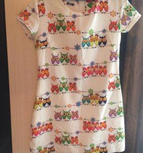 Платье с совушками