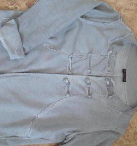 Пиджачок и кофта пончо летучая мышь