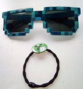 Продам очки майнкрафт и брослет