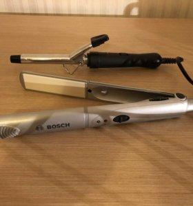 Утюжок Bosch + плойка
