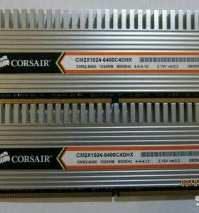 Опер.память 2Gb(2*1Gb)DDR2