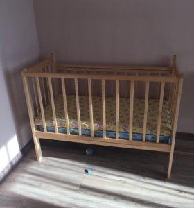 Кроватка детская+2матраса