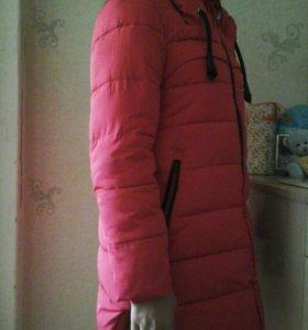 Пальто зима на девочку подростка.р-р 152.