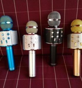 Караоке блютуз микрофон с колонкой usb