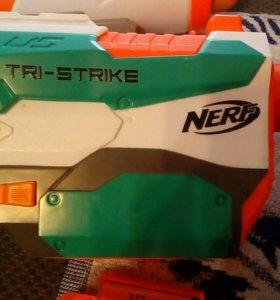 Бластер NERF TRI STRIKE ( нёрф)