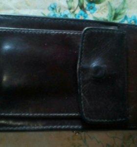 Раритетный кошелёк натуральная кожа.