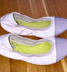 Кожаные балетки Puma