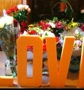 Буквы из пенопласта LOVE