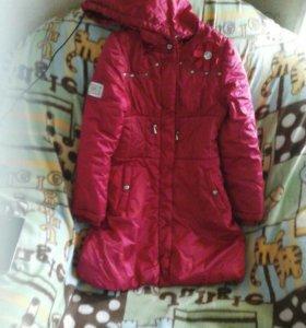 Пальто на девочку рост 128.