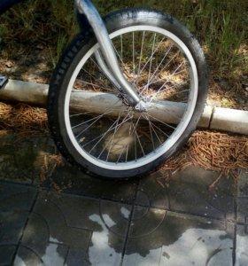 Велосипед на ходу