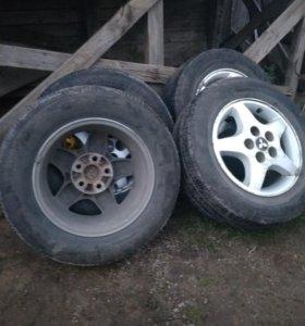 4 колеса на литых дисках Брич Стоун летние