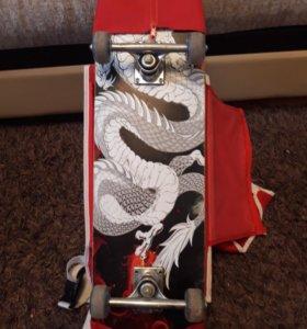 Скейтборд+чехол