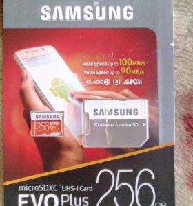 Карта памяти Samsung micro SD EVO PLUS 256GB