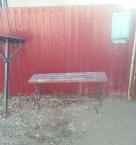 Могильная ограда столик и лавочка