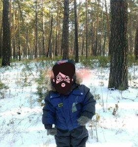 Костюм детский зима( куртка,штаны, шапка)