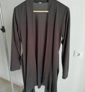 Кардиган-накидка темно-серый